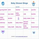 Free Baby Shower Bingo cards