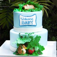Beatrix Potter Inspired Baby Shower Cake