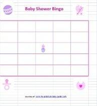 Free Printable Girl Baby Shower Bingo Cards Game