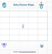 Free Printable Boy Baby Shower Bingo Cards Game