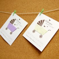 DIY Baby Shower Card Seed Favor