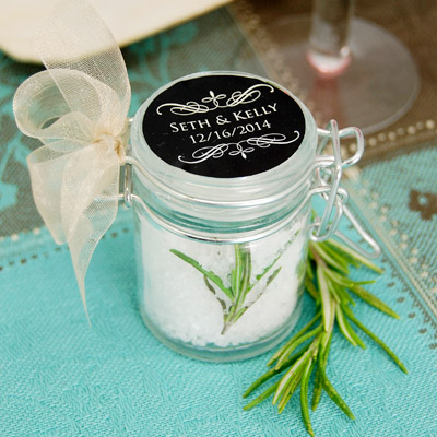 DIY Rosemary Sea Salt Baby Shower Favor