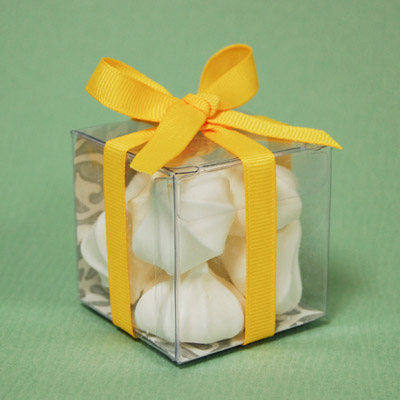 DIY Wrapped Clear Favor Box