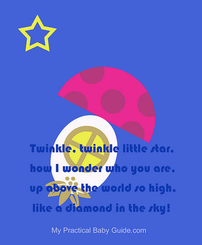 Nursery Wall Art Big Mushroom Twinkle Twinkle Little Star