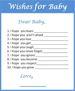 Free Printable Wishes for Baby Boy