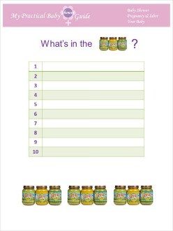 Free Printable Baby Shower Game What's in the Jar?