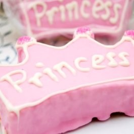 Personalized Pink Princess baby shower Crown Rice Krispy Treat