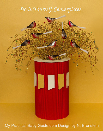 DIY Bird Baby Shower Wishing Tree