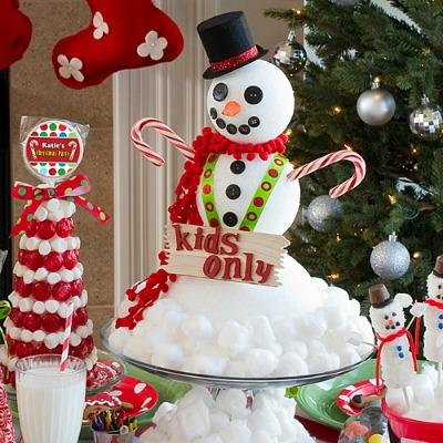 DIY Snowman Christmas Centerpiece