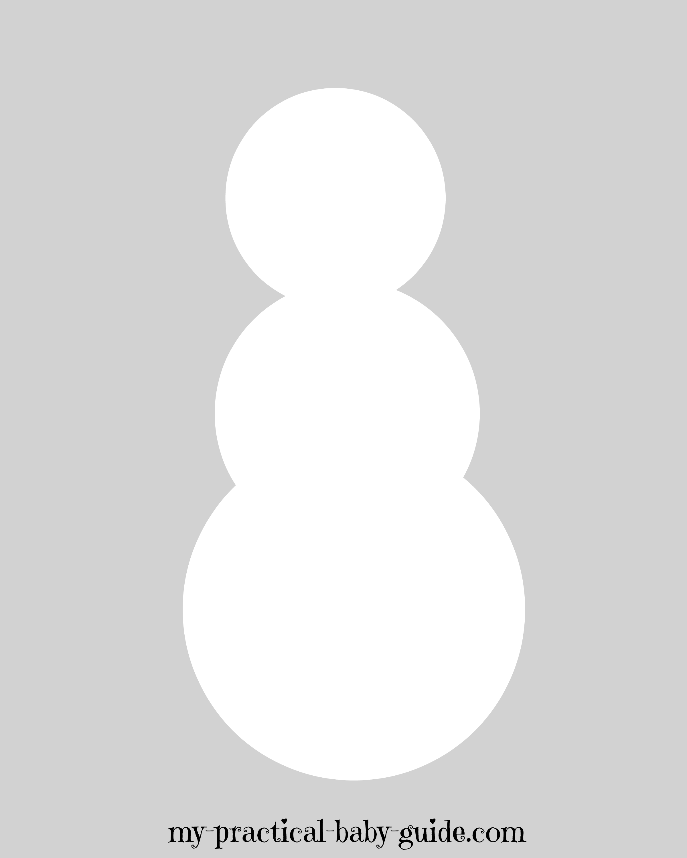 Printable Snowman Body - Frozen Birthday Game