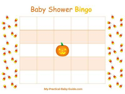 Halloween Baby Shower Bingo