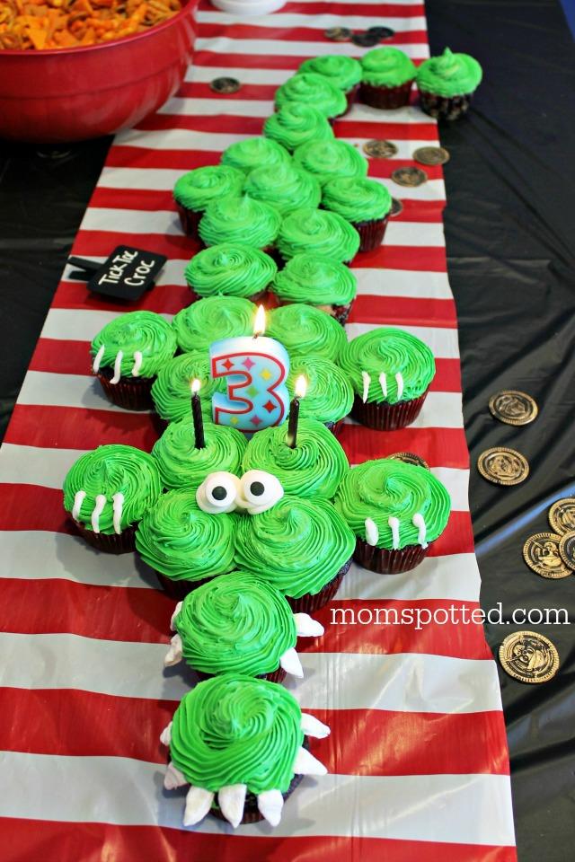 Tic Toc Croc Pirate Crocodile Cupcakes
