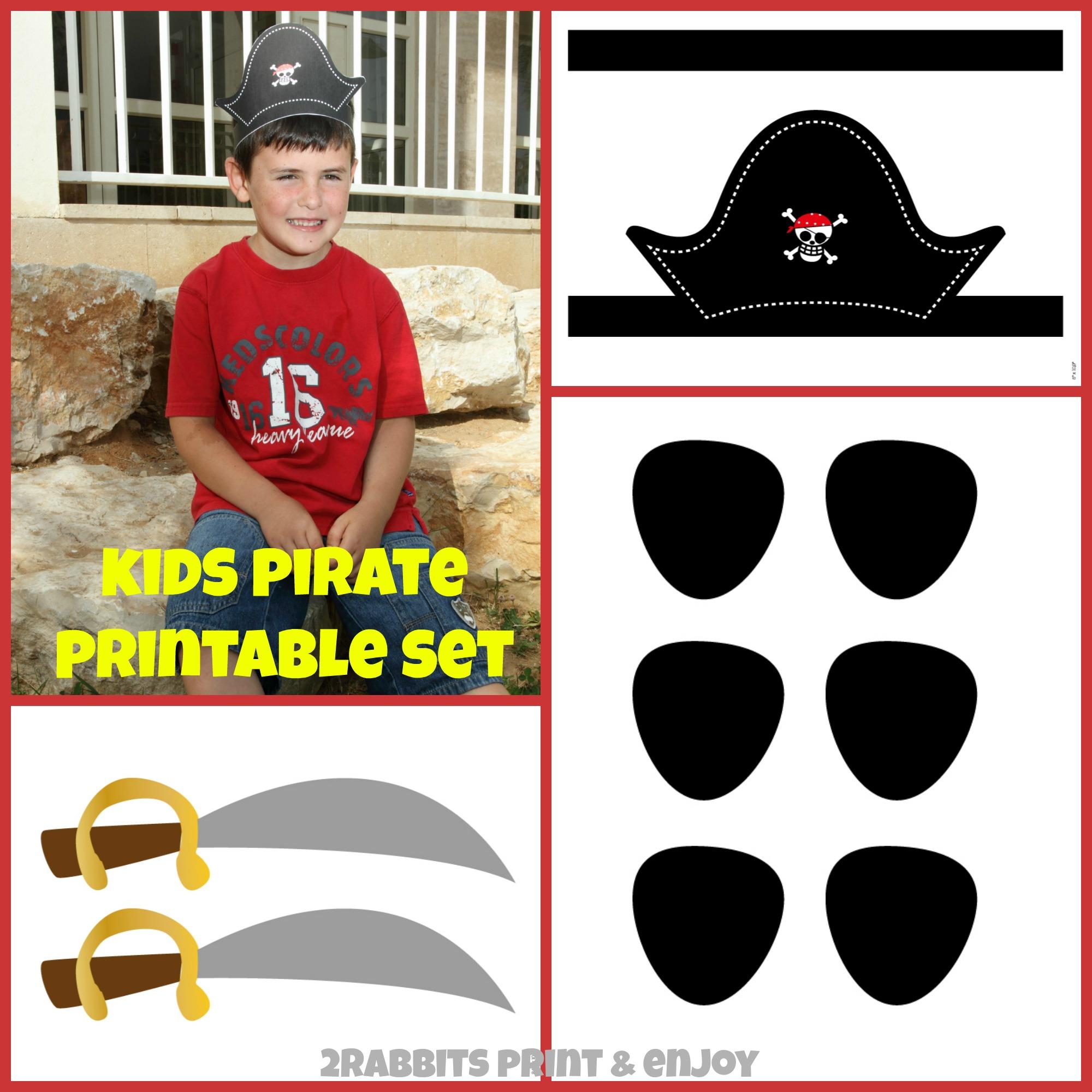 Kids Pirate Printable Set!!