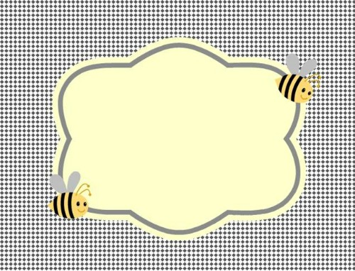 Clean image with regard to free printable bee template