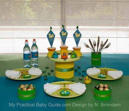 Duck Baby Shower Table Setting Suggestion