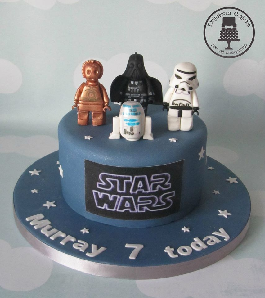 Star Wars Birthday Cake with Figures from Star Wars