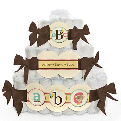 Alphabet Baby Shower Diaper Cake