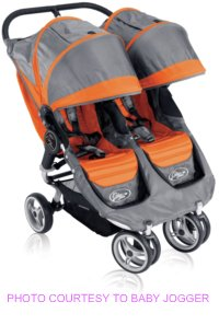 Baby Jogger City Mini Double Orange Grey