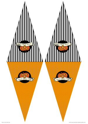 Free Printable Halloween Baby Shower Bunting Flags