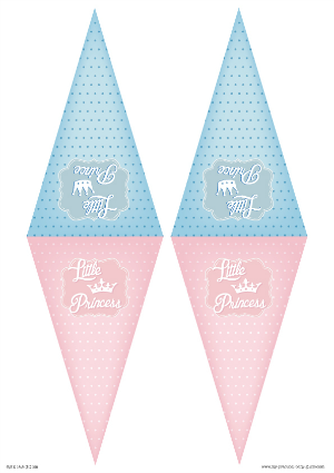 Free Printable Gender Reveal Baby Shower Banner Little Prince or  Princess