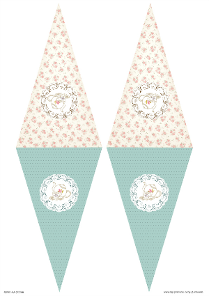 Free Printable Tea Party Baby Shower Bunting Flags