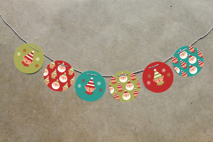 Christmas Baby Shower Circle Garland