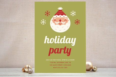 Christmas Baby Shower Party Invitation