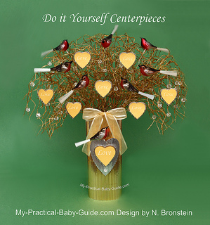 DIY Christmas Baby Shower Wishing Tree