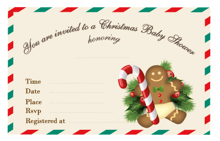 Free Printable Christmas Baby Shower Invitation