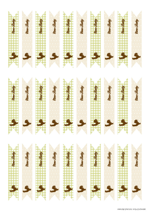 Free Printable Flags Farm Baby Shower