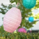 baby shower oval paper lanterns