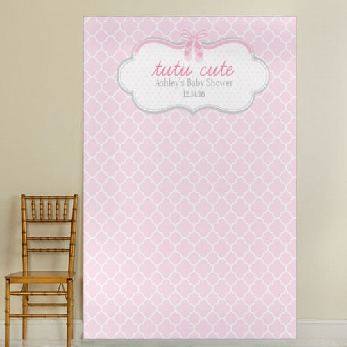 Personalized Tutu Birthday Photo Backdrop