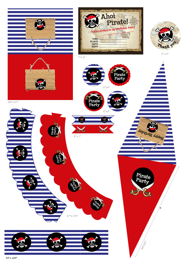 Printable Pirate Party Set