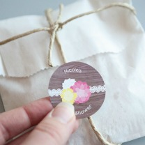 Rustic Floral Baby Shower Favor