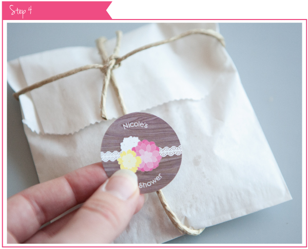 Rustic Floral Baby Shower Favor Tutorial