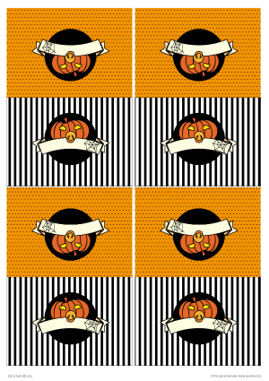 Free Printable Halloween Food Tent Crads