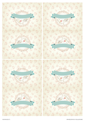 Free Printable Tea Party Baby Shower  Food Card Tents for tables
