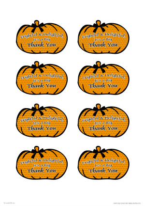 Free Printable Halloween Baby Shower Thank You Gift Tags