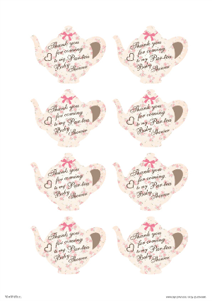 Free Printable Tea Party Thank You Cards