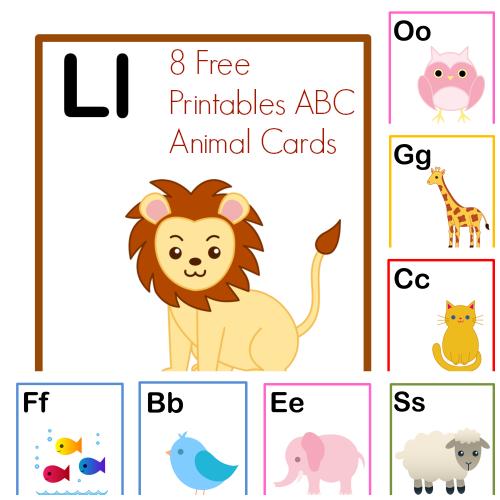 Free Printable ABC Animal Cards