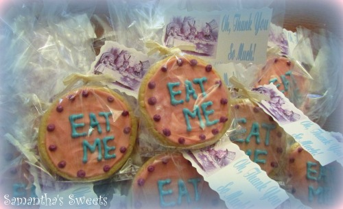 Alice in Wonderland Baby Shower Eat Me Cookies