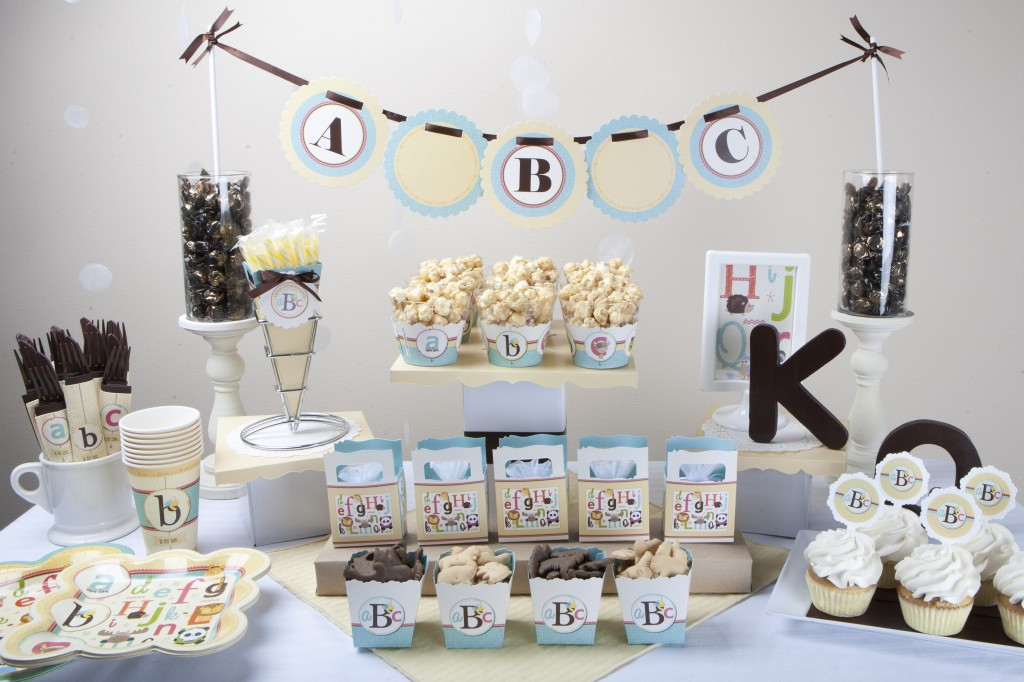Alphabet Baby Shower Candy Buffet