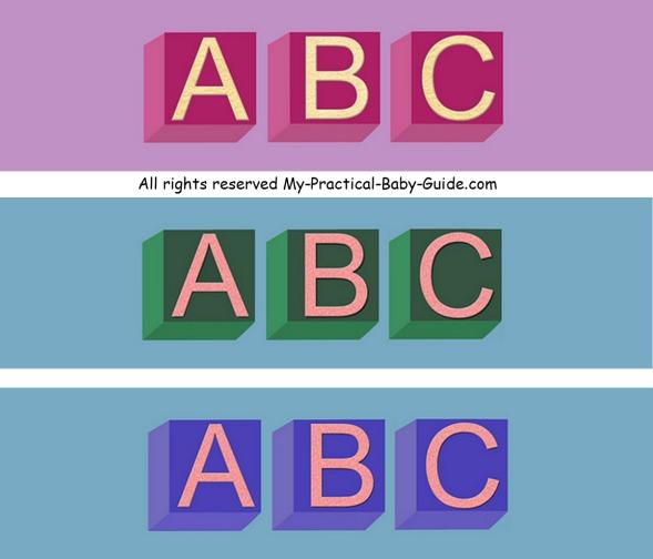 Free Printable Alphabet ABC Baby Shower Bottle Labels