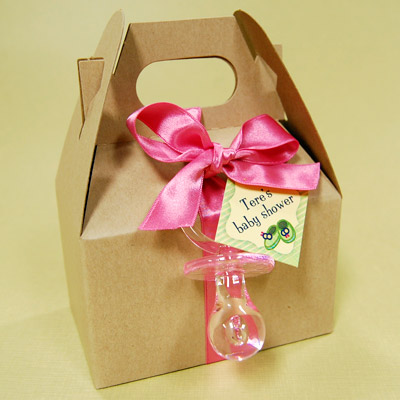 DIY Baby Shower Cookies/Candies Favor Box