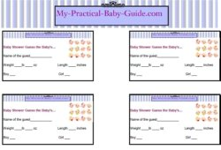 Free Printable Baby Shower Guess the Baby's…Game