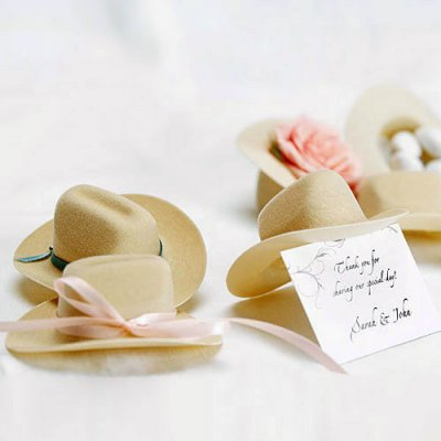 Mini Cowboy Hats for a Cowboy Baby Shower