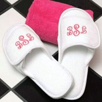 Delightful Terry Cloth Spa Slippers