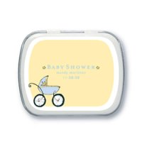 Tins Filled with Peppermints Baby Shower Favors