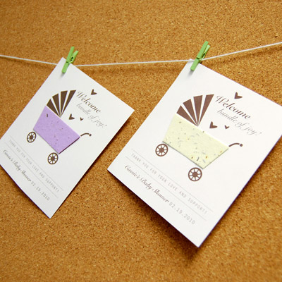 Diy Baby Shower Seed Card Clothesline My Practical Baby Shower Guide