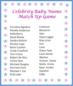 free printable baby shower celebrity baby names